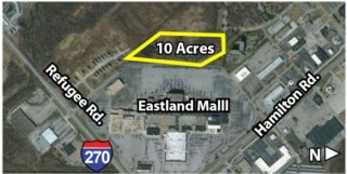 10 Acres Commercial / Residential Development Land Adjacent to Eastland Shopping Mall, Live, On-Site, $30,000.00 Minimum Bid, Real Estate Auction
