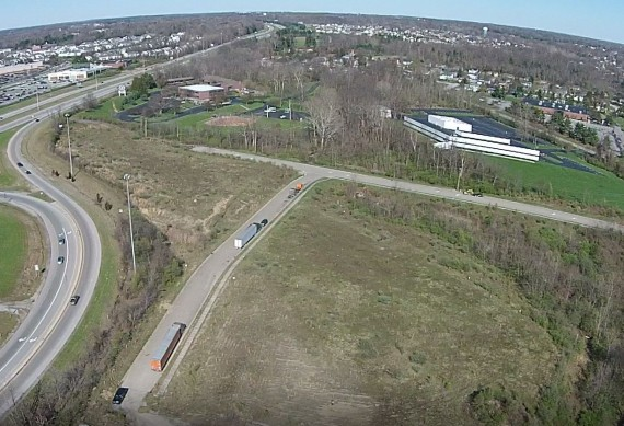 Aerial looking NE toward I-70