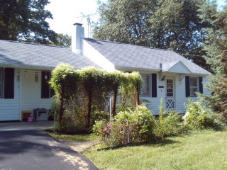 Almost 1 acre with cute ranch home.