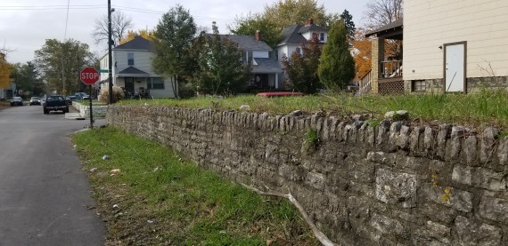 Stone Retaining Wall & Parking Area