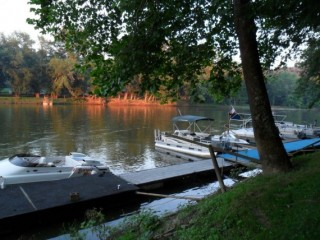 Campground in Morgan Co. on the Muskingum River