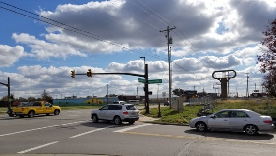 Georgesville Road & Industrial Mile Road Corner Intersection