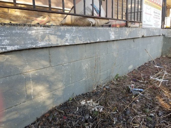 Front Porch Concrete Block Foundation