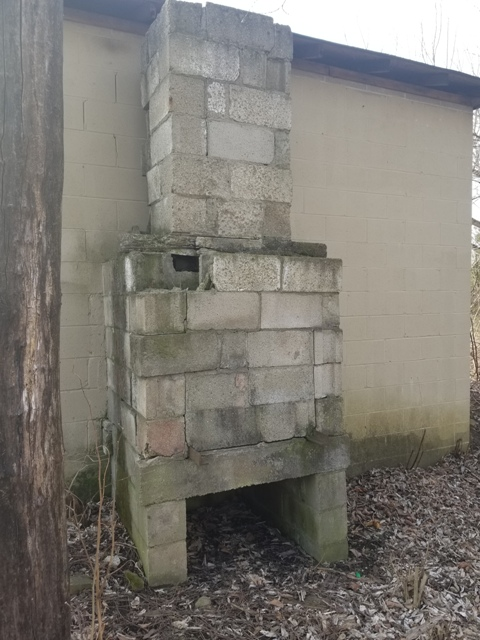 Concrete Block Fireplace