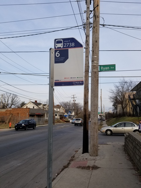 Bus Stop #2738 Located Directly In Front