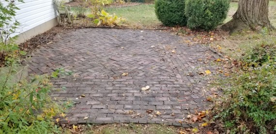 Back Yard Brick Patio