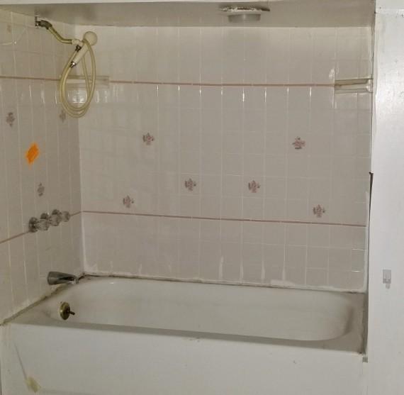 Winterized 1/2 Bathroom Tub