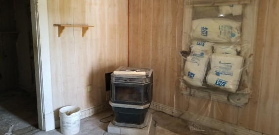 Pellet Stove in addition to a Propane Furnace
