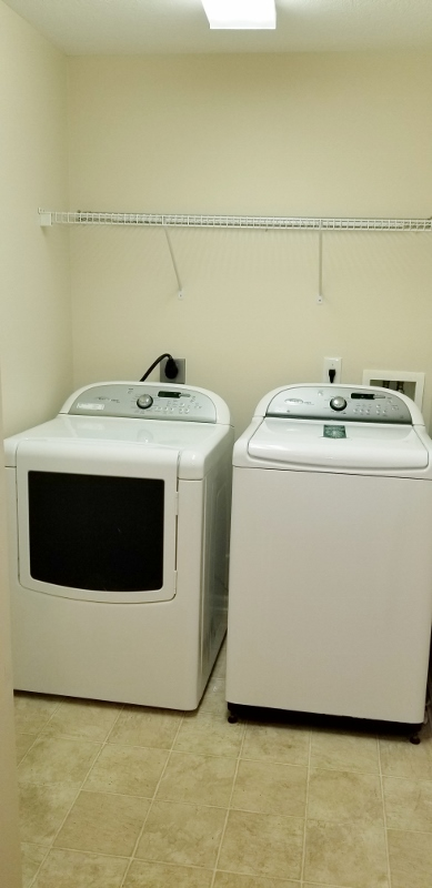 First Floor Laundry Room Off The Kitchen, Washer & Dryer Stay