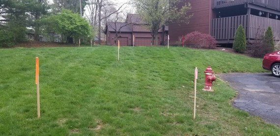 Fire Hydrant & Utility Easement Survey Stakes