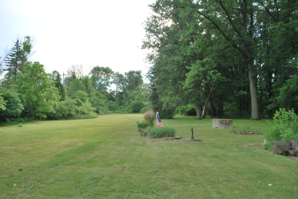View from the house to the back of the property