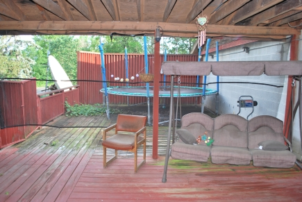 Back porch of owner's suite