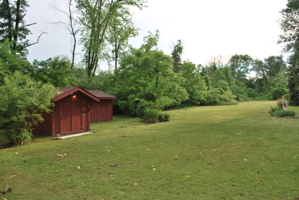 Storage sheds by the house