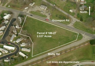 2.537 Acres of Vacant Commercial Land in Obetz