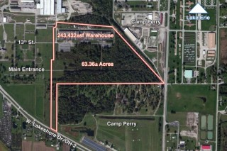 Absolute Auction of 243,432 SF Industrial Warehouse on 63 Acres in Port Clinton